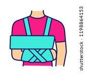 shoulder immobilizer color icon.... | Shutterstock .eps vector #1198864153