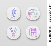 trauma treatment app icons set. ... | Shutterstock .eps vector #1198864159