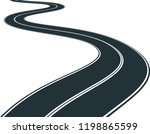 isolated road   clip art... | Shutterstock .eps vector #1198865599