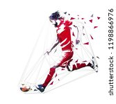 football player in red jersey... | Shutterstock .eps vector #1198866976