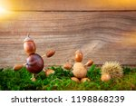different autumn tinker figures ... | Shutterstock . vector #1198868239