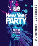 new year party design template. | Shutterstock .eps vector #119886853