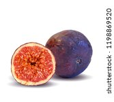fresh  nutritious  tasty figs.... | Shutterstock .eps vector #1198869520