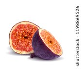 fresh  nutritious  tasty figs.... | Shutterstock .eps vector #1198869526