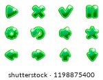 vector green collection set...