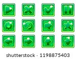 vector green square collection...