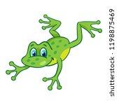 Little Funny Cartoon Frog Is...