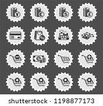 e commerce web icons stylized... | Shutterstock .eps vector #1198877173