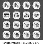 e commerce web icons stylized... | Shutterstock .eps vector #1198877173