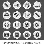 creative process web icons... | Shutterstock .eps vector #1198877176