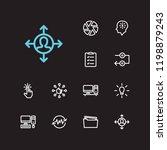 multitasking icons set. to do... | Shutterstock .eps vector #1198879243
