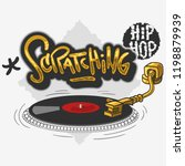 scratching hip hop related tag... | Shutterstock .eps vector #1198879939