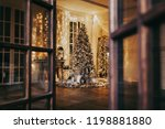 warm and cozy evening in... | Shutterstock . vector #1198881880