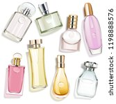 vector perfume glass bottles... | Shutterstock .eps vector #1198888576