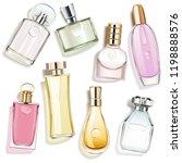 vector perfume glass bottles... | Shutterstock .eps vector #1198888576