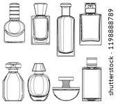 vector sketch perfume bottles... | Shutterstock .eps vector #1198888789