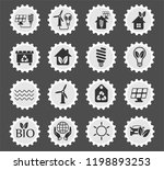 alternative energy web icons... | Shutterstock .eps vector #1198893253