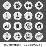 cleaning company web icons... | Shutterstock .eps vector #1198893256