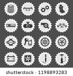 car shop web icons stylized... | Shutterstock .eps vector #1198893283