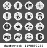 car service web icons stylized... | Shutterstock .eps vector #1198893286
