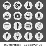 graphic editor tools web icons... | Shutterstock .eps vector #1198893406
