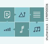 audio icon set and music file... | Shutterstock .eps vector #1198900036