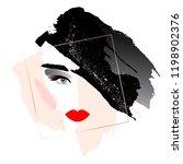 fatal brunette. woman's face... | Shutterstock .eps vector #1198902376