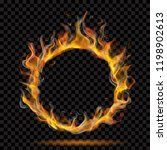 translucent ring of fire flame... | Shutterstock .eps vector #1198902613