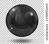 big translucent black sphere... | Shutterstock .eps vector #1198902643
