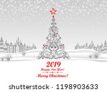 2019 happy new year greeting... | Shutterstock .eps vector #1198903633