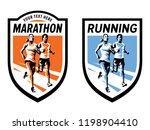 marathon running sports logo... | Shutterstock .eps vector #1198904410