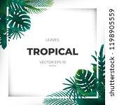 summer tropical green palm...   Shutterstock .eps vector #1198905559
