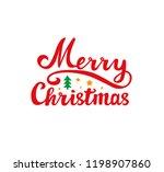 merry christmas. holiday vector ... | Shutterstock .eps vector #1198907860