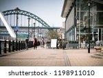 newcastle upon tyne  england ... | Shutterstock . vector #1198911010