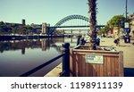 newcastle upon tyne  england ... | Shutterstock . vector #1198911139