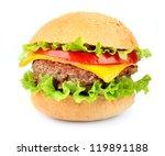 hamburger on white background | Shutterstock . vector #119891188