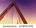 cable bridge. the bridge at... | Shutterstock . vector #1198921390