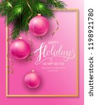 holidays greeting card for... | Shutterstock .eps vector #1198921780