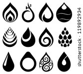 drop icons and signs set | Shutterstock .eps vector #119892934