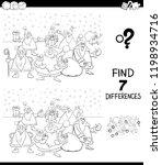 black and white cartoon... | Shutterstock .eps vector #1198934716