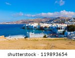mykonos little venice view ... | Shutterstock . vector #119893654