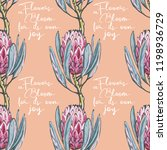 floral pattern with bloom... | Shutterstock .eps vector #1198936729