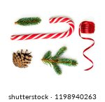 christmas composition  with... | Shutterstock . vector #1198940263