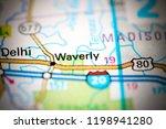 waverly. louisiana. usa on a map | Shutterstock . vector #1198941280