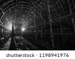 abandoned metro tunnel with... | Shutterstock . vector #1198941976