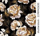 seamless floral pattern. gold... | Shutterstock .eps vector #1198942630