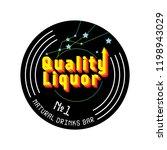 liquor vector logo | Shutterstock .eps vector #1198943029