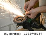 carpentry workshop. hands... | Shutterstock . vector #1198945159