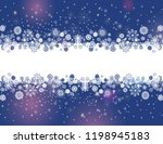 snowflakes border on a dark... | Shutterstock .eps vector #1198945183