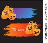 halloween web violet grunge... | Shutterstock .eps vector #1198945876